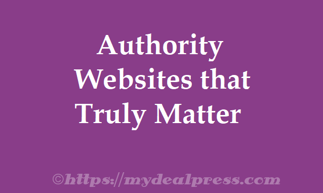 Here are the top Websites that really matter